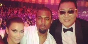 Psy Berpose Bareng Kim Kardashian dan Kanye West