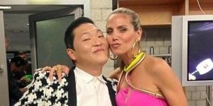 Psy Makin Mesra Dengan Supermodel Heidi Klum