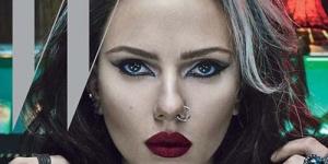Scarlett Johansson Tampil Seksi dan Tindik Hidung di Cover W Magazine