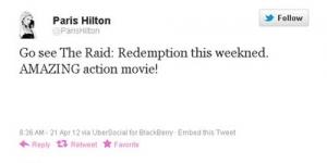 Wuih! Paris Hilton Memilih Berakhir Pekan dengan Tonton Film 'The Raid'