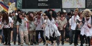 Zombie Serang Jepang untuk Promosikan Film 'Resident Evil 5: Retribution'
