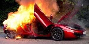 Mobil McLaren MP4 Rp 3 Miliar Tiba-tiba Meledak dan Terbakar