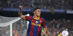 Barcelona Sadari David Villa Striker Top