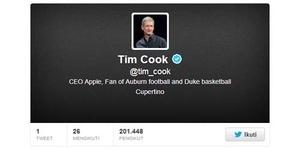 Akhirnya, CEO Apple Punya Akun Twitter @tim_cook