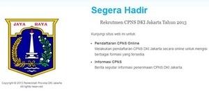 Situs Rekrutmen CPNS DKI 2013 Masih Belum Bisa Dibuka