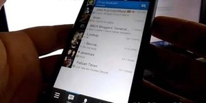 Video Penampilan BlackBerry Messenger Android