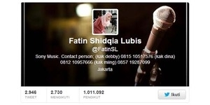 We made it, Followers Twitter Fatin Shidqia Lubis Capai 1 Juta