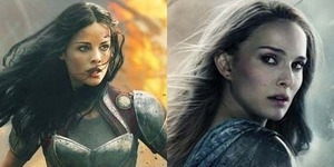 Dua Wanita Tangguh di Poster Thor: The Dark World