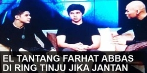 (VIDEO) El Ahmad Dhani Tantang Farhat Abbas Adu Tinju di Atas Ring