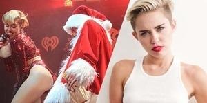Aksi Vulgar 'Twerking' Miley Cyrus dengan Santa Claus