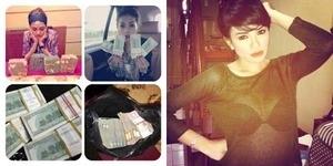 Nikita Mirzani Pamer Uang Dolar di Twitter