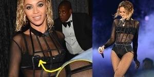 Kostum Terlalu Minim, Payudara Beyonce Terlihat