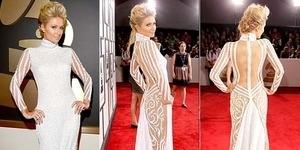 Paris Hilton Pamer Punggung Seksi di Grammy Awards 2014