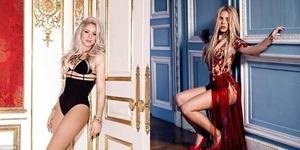 Shakira Seksi Membara di Artwork Can't Remember To Forget You.