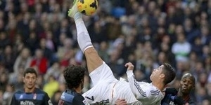 Video Tendangan Salto Cristiano Ronaldo, Real Madrid vs Granada 2-0