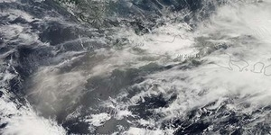 Foto Pertama Saat Gunung Kelud Meletus dari Luar Angkasa