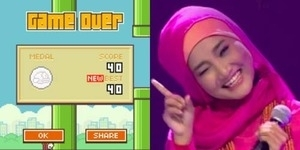 Kecanduan Flappy Bird, ini Skor Fatin Shidqia Lubis