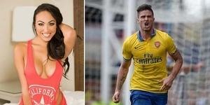 Sebelum Arsenal Dikalahkan Liverpool, Giroud Bercinta dengan Model Seksi Celia Kay