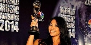 Anggun Raih Penghargaan World Music Awards 2014