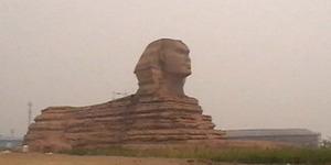 Dituduh Menjiplak, Patung Sphinx Tiruan di China Bakal Dibongkar