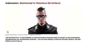 Ahmad Dhani Pakai Seragam Nazi di Video Prabowo Hatta Hebohkan Media Jerman