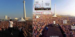 Foto Jokowi di Antara Lautan Pendukungnya di Monas Palsu?