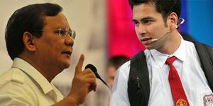 Percakapan Gaul Prabowo dan Raffi Ahmad di Twitter