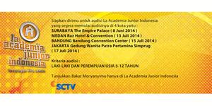 Jadwal Audisi La Academia Junior Indonesia