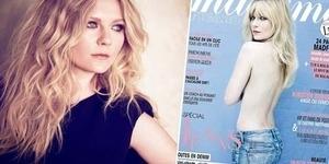 Kirsten Dunst Topless di Majalah Perancis