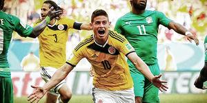 Piala Dunia 2014 Kolombia v Pantai Gading 2-1