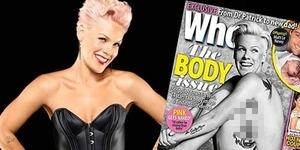 Pink Bugil di Sampul Majalah Who