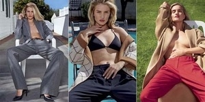 Pose Topless Rosie Huntington-Whiteley di V Magazine