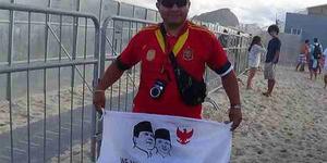 Bendera Prabowo-Hatta Muncul di Rio de Janeiro Brasil
