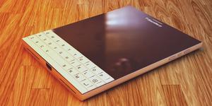 Foto BlackBerry Passport Warna Putih Tampak Elegan