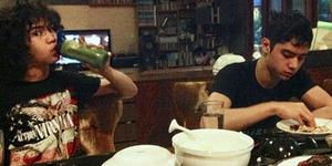 Foto Al, El, dan Dul Santap Sahur di Rumah Maia Estianty