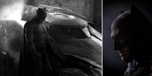 Foto Close Up Ben Affleck jadi Batman di Batman V Superman: Dawn of Justice
