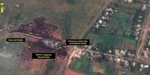 Foto Lokasi Jatuhnya MH17 dari Satelit Luar Angkasa