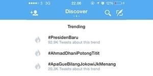 Jokowi Presiden, #AhmadDhaniPotongTitit Jadi Trending Topic Twitter