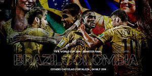 Prediksi Perempat Final Piala Dunia 2014 Brasil v Kolombia