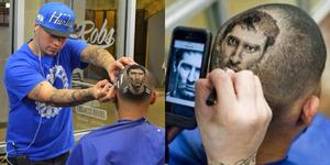 Tukang Cukur ini Bisa 'Memotret' Bintang Sepak Bola di Rambut Anda