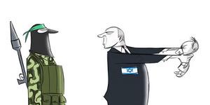 Video Kartun PM Israel Netanyahu Pukuli Bayi Palestina