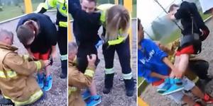 Video Remaja Kanada Terjebak di Ayunan Khusus Balita