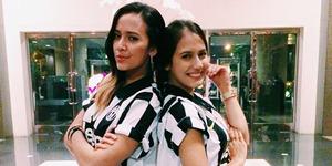 4 Pemain Juventus Disambut dan Dikalungi Bunga oleh Pevita Pearce