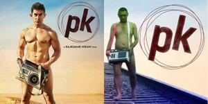 Fans Telanjang Keliling Jalanan Tiru Gaya Aamir Khan di Poster PK