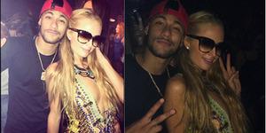 Foto Intim Neymar Peluk Paris Hilton
