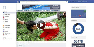 Video Facebook 'Girl Killed by husband just because she kissed another men' Berisi Virus!