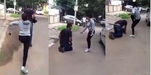 Video: Karena Dilecehkan, Wanita Tendang Kepala Seorang Pria