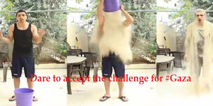 Rubble Bucket Challenge, Aksi Mandi Pasir Peduli Gaza