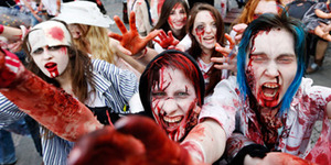 2.000 Zombie Serbu Jalanan Spanyol