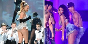Aksi Hot Jennifer Lopez-Nicki Minaj di 2014 Fashion Rocks